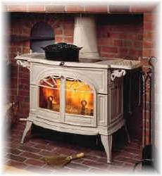Cast iron and steel constructionwith patented Insta-Flame ceramic